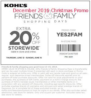 Kohls coupons december