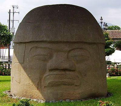 Olmec Stone Head - La Cobata Head, Santiago Tuxtla