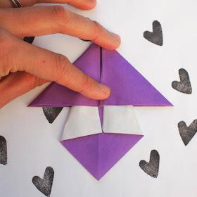 how to fold origami mushroom