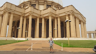 Me in front of the Basilica