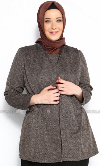 Koleksi Model Baju Kerja Muslim untuk Orang Gemuk