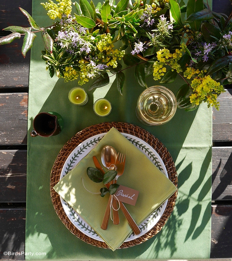 Tablescape for a Relaxed Dinner Party - BirdsParty.com
