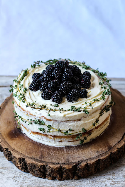 The Spoon and Whisk: Blackberry, Lime and Thyme Cake