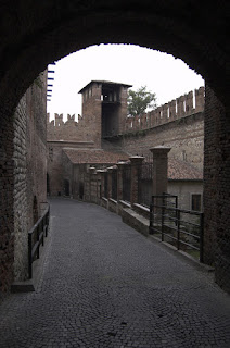 The Castelvecchio in Verona was one of the fortresses in the Quadrilatero