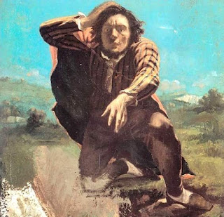 The Man Made Mad By Fear Gustave Courbet