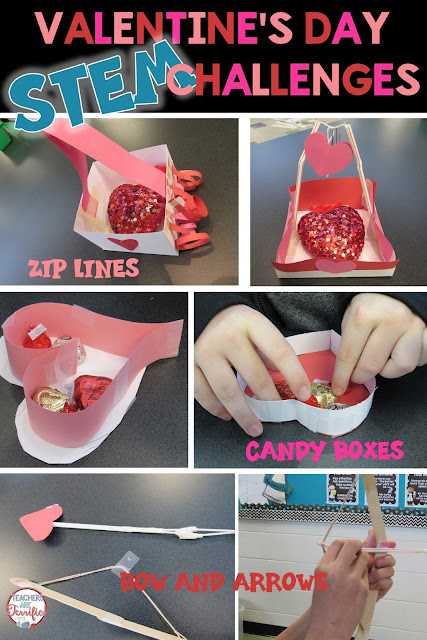 "STEM Challenge money-saving bundle of three tasks all involving Valentine's Day! What a great way to say ""I Love You"" by having kids design boxes, zip lines, and more! Easy preparation for busy teachers!"