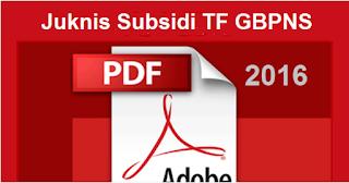 Juknis Subsidi Tunjangan Fungsional GBPNS RA dan Madrasah Tahun 2016