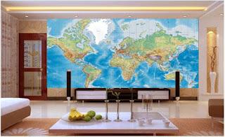 fototapet världen whole wide world världskarta tapet