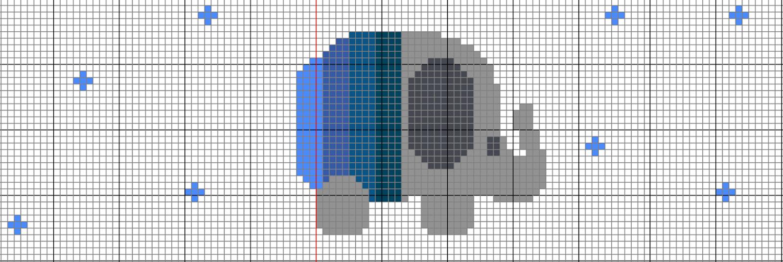 DIY Babero con diseño en punto de cruz - TutosCandy