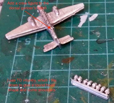 Ju 52 Tante 1/600 Plane Conversion Dorsal Gunner