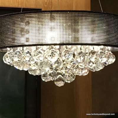 Swarovski crystal light fixture at Noodle House in Taipei, Taiwan