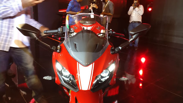 New 2018 TVS Apache RR 310 front twins Headlight image