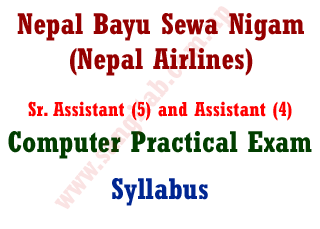 Nepal BayuSewa Nigam Sr. Assistant and Assistant Computer Practical Exam Syllabus