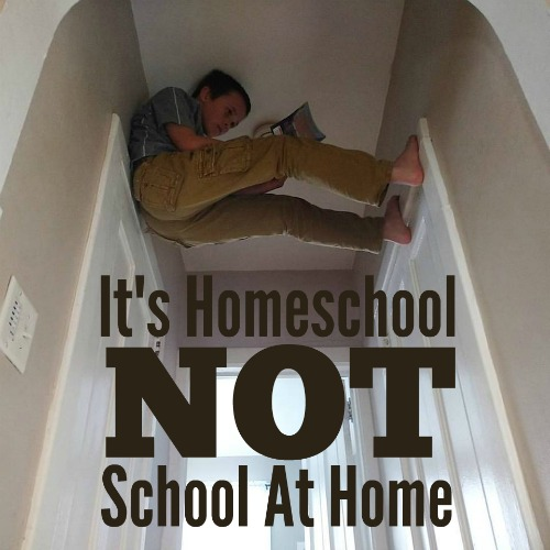 It's Homeschool, Not School-at-Home