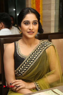 Actress Regina Stills in Green Saree at Vivaha Bhojanambu Restaurant Launch  0133.JPG