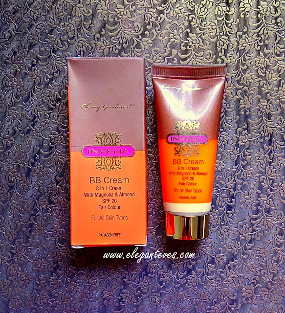 Review Swatches FOTD of Inveda 8-in-1 BB cream fair colour India