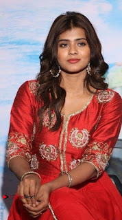 Actress Heba Patel Latest Stills in Red Dress at Mister Movie Trailer Launch Event  0008.jpg