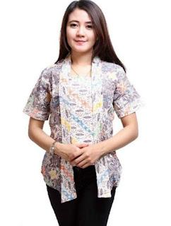 Model baju batik wanita terbaru lengan pendek