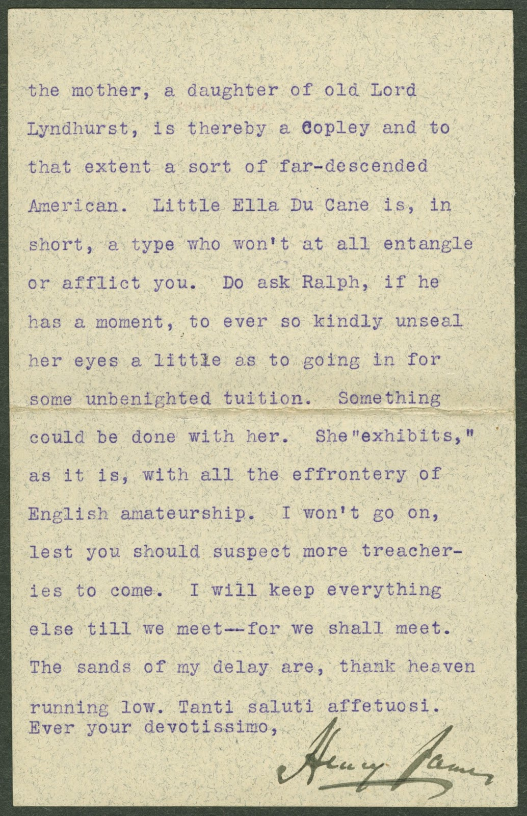 The last page from the typed letter.