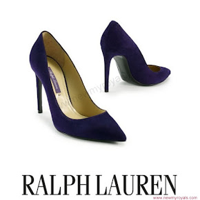 Princess Victoria wore Ralph Lauren Suede Celia Pump