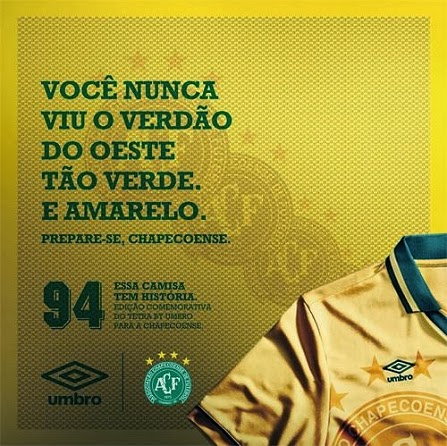 d42d88d623 Chapecoense apresenta terceira camisa em homenagem a Seleção Brasileira
