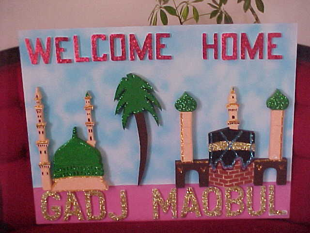 Umrah Banner: Welcome Home Boards: Hajj Boards Available