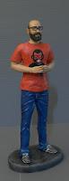 statuette realistiche milano ritratti idee regalo marito attore jeans orme magiche