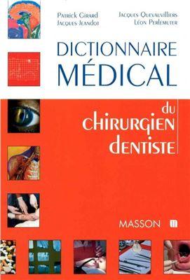 Dictionnaire médical du chirurgien dentiste