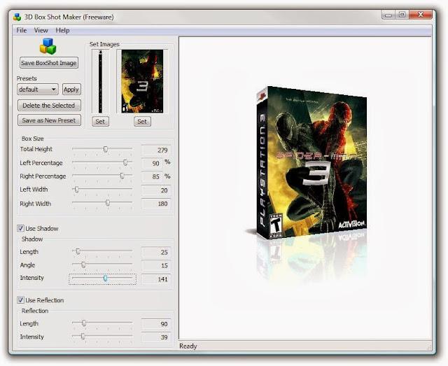 3D Box Shot Maker 1.0 - Φτιάξτε τρισδιάστατα εικονικά Covers
