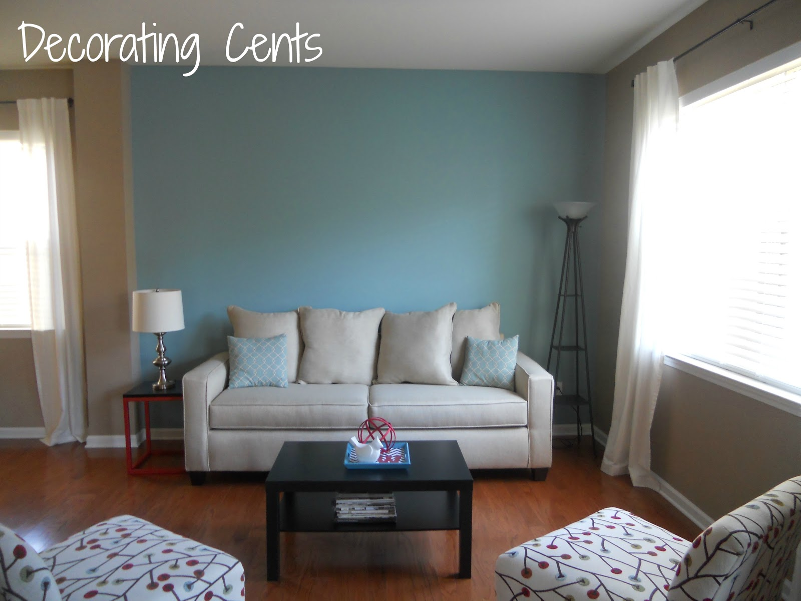 Decorating cents november 2012 - Blue accent walls for living room ...