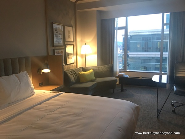 guest room at The Duniway Portland, a Hilton Hotel in Portland, Oregon