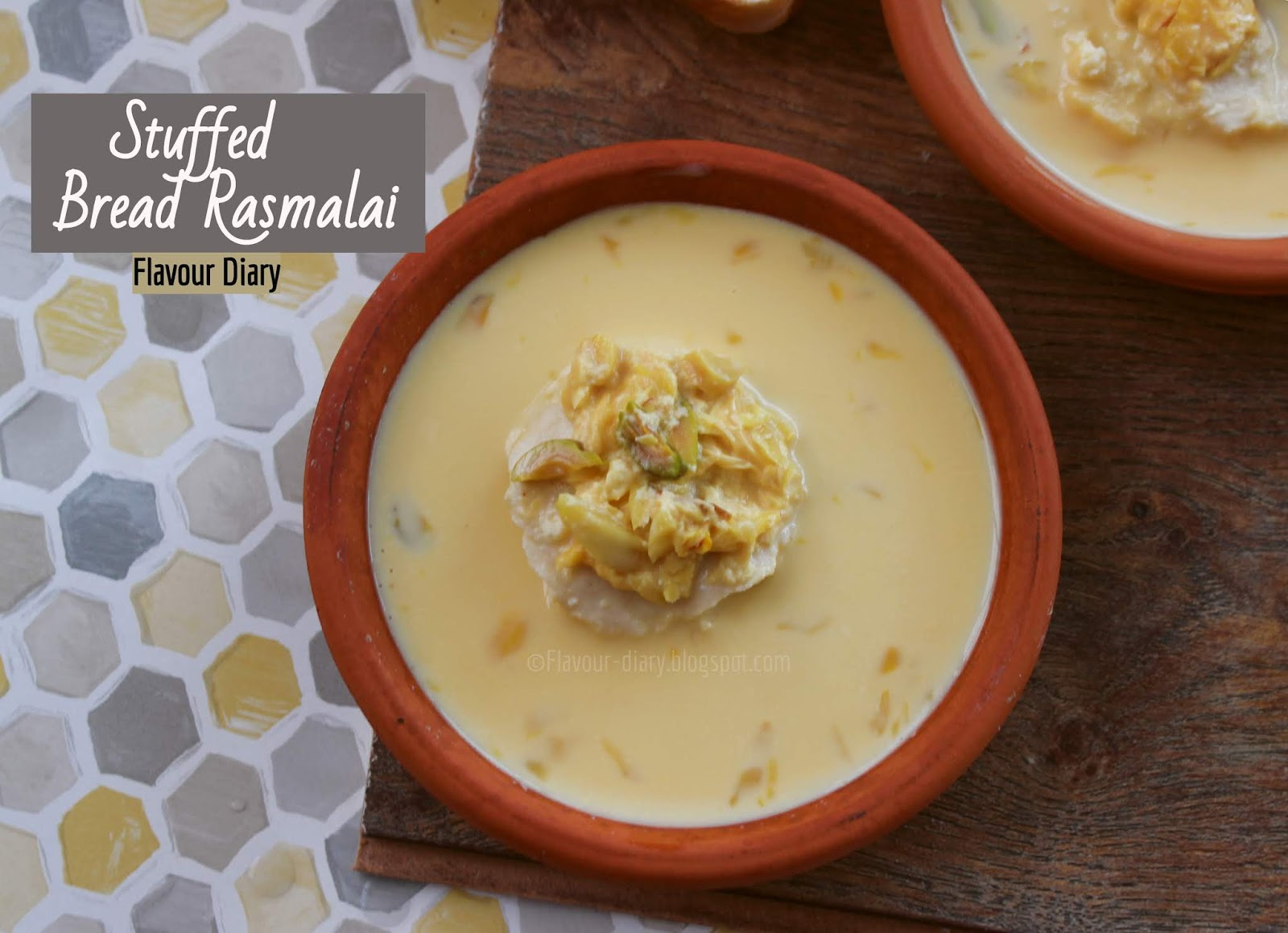 Stuffed Bread Rasmalai easy indian dessert recipe