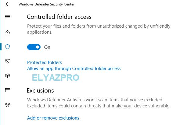 طريقة حماية الملفات والمجلدات الهامة من فيروسات الفدية على ويندوز 10