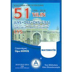 AYayınları LYS Matematik 51 Yılın Soruları ve Ayrıntılı Çözümleri (2017)
