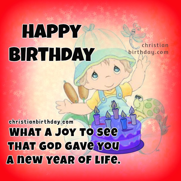 Happy Birthday Card God Bless You Christian Birthday Free Cards