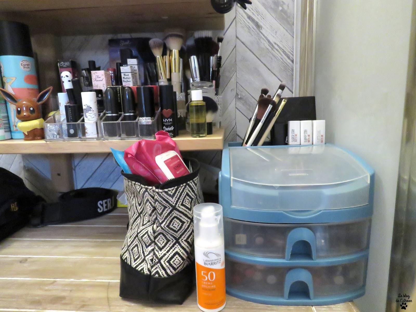 Organisation rangement maquillage