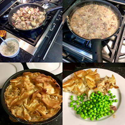 Lucy's Easy Chicken Pie - add sparkle to your dinner table - Step by step collage