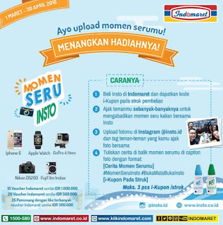 Lomba Foto Momen Seru Insto Indomaret Berhadiah Iphone 6 , Apple Watch, Voucher dan Kamera Digital