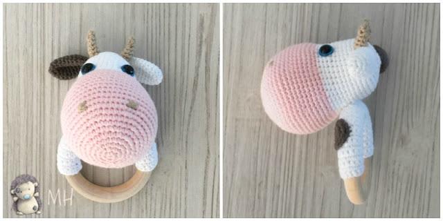 Mordedor vaca a crochet
