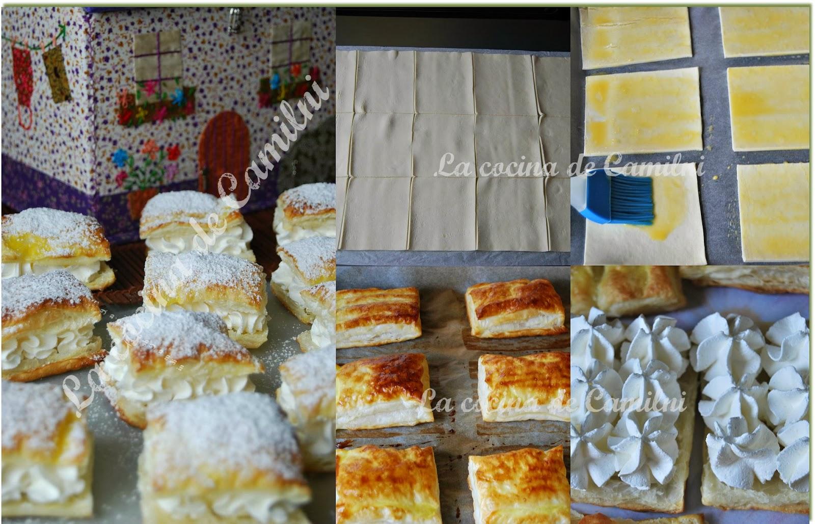 Miguelitos express de nata (La cocina de Camilni)