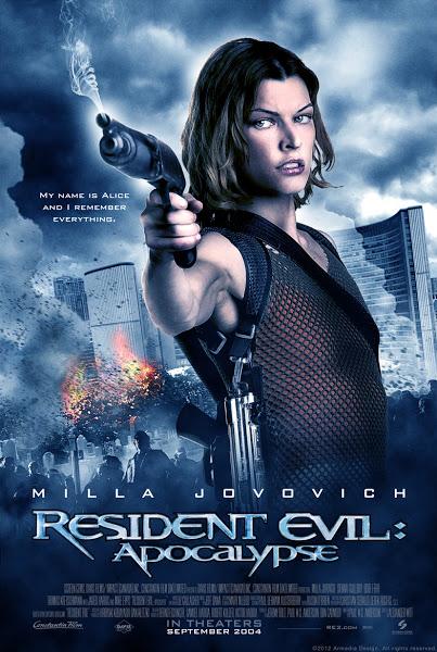Poster of  Resident Evil Apocalypse 2004 Dual Audio 720p BluRay Hindi