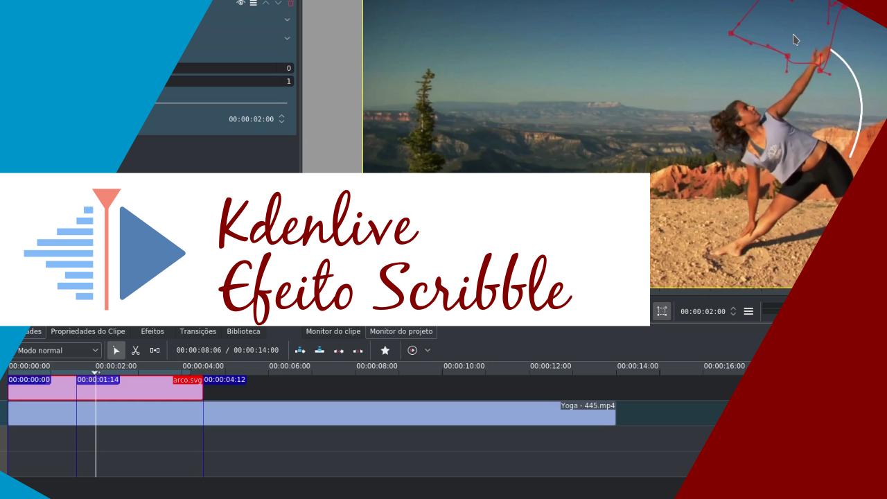 Efeito Scribble no Kdenlive