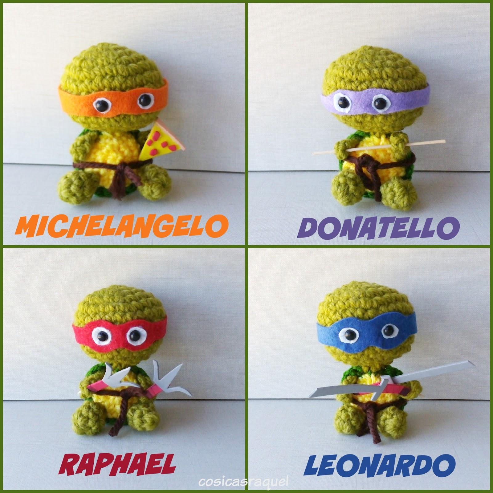 Tortugas ninja amigurumi tejidas a crochet ninja turtles amigurumi ... | 1600x1600