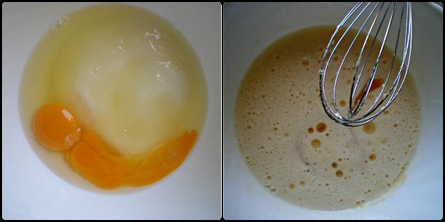 Magdalenas de plátano rellenas de confitura de naranja: elaboración del relleno. Paso 1 de 2