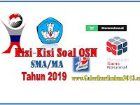 Kisi-Kisi Soal OSN(Olimpiade Sains Nasional) SMA/MA Tahun 2019