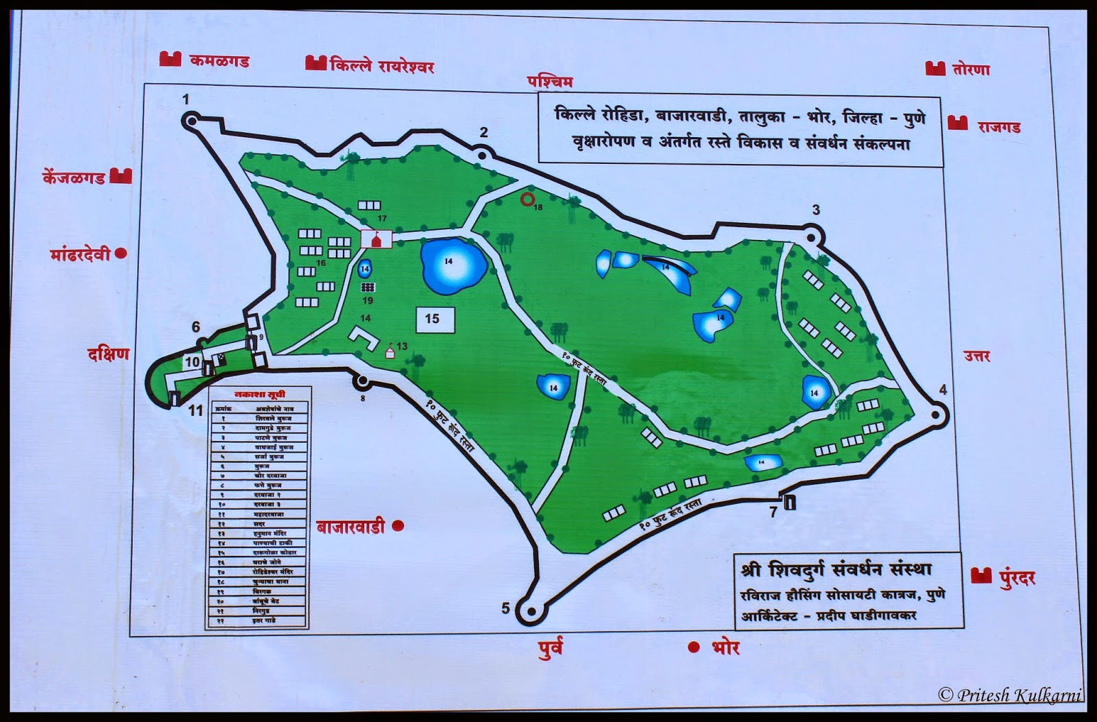 Rohida fort Map