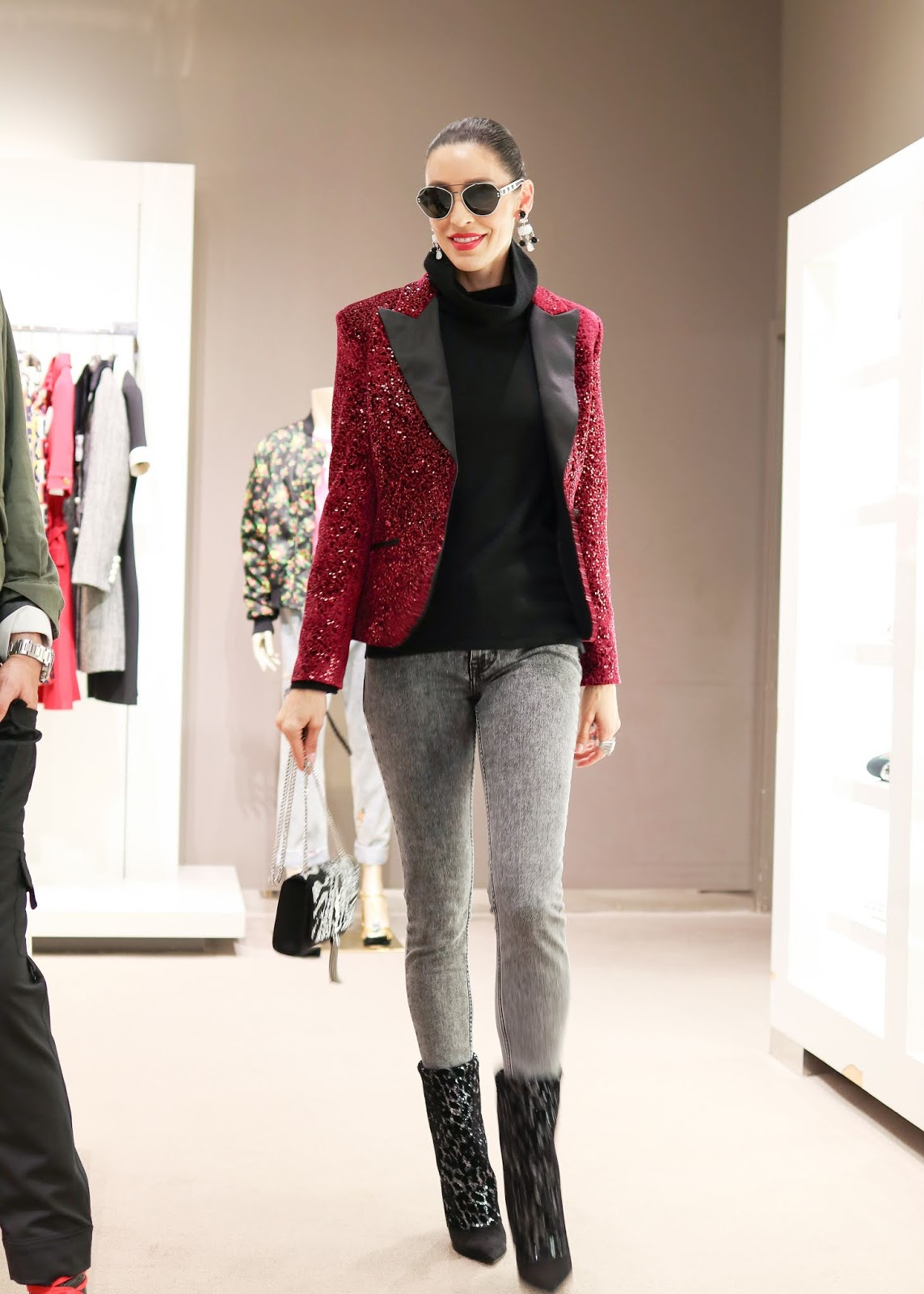 Sequin Blazer Outfit, Sequin blazer