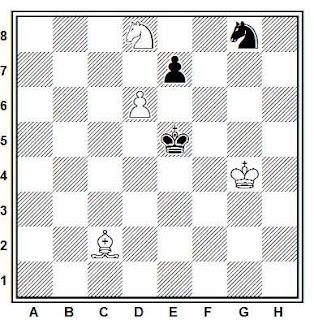 Estudio artístico de ajedrez compuesto por H. M. Lommer (Basier Nationalzeitung, 1935)