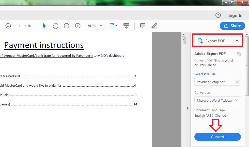 cara convert pdf ke word dengan adobe acrobat pro