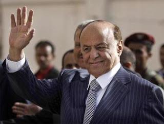 الرئيس اليمني عبد ربه منصور هادي يلتقي الوفد الأجنبي المكلف بإعادة هيكلة وزارة الداخلية